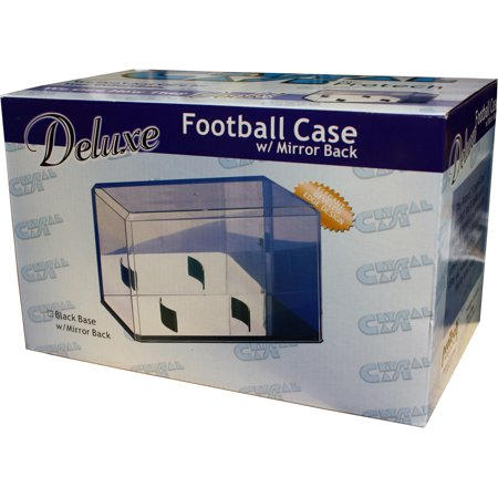 (Full Size Football Display Case With Mirror Back (Football Not Included))
