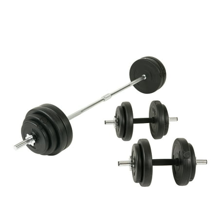 Sunny Health & Fitness 100 lbs Vinyl Weight Plate Dumbell Set - NO.061