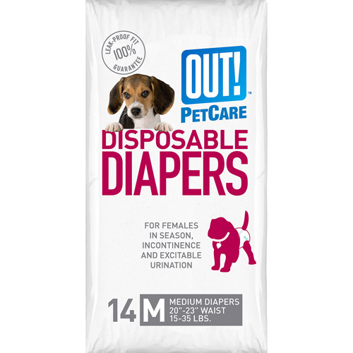 OUT! Disposable Diapers, Size Medium