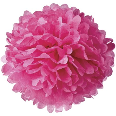 Baby Shower Hanging Decoration (Tissue Paper Pom Pom (10-Inch, Fuchsia Pink) - For Baby Showers, Nurseries, and Parties - Hanging Paper Flower Decorations)