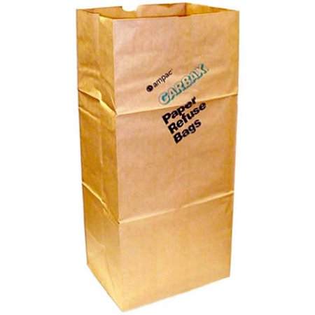 5 Pack 30 Gallon Paper Lawn & Leaf Bags, Ampac, SOS30G (lawn and garden trash bags)