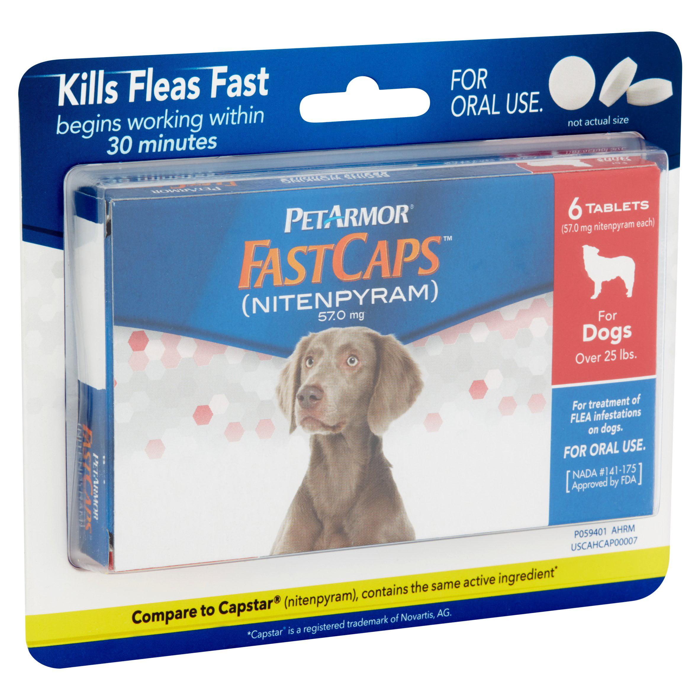 PetArmor FastCaps, Large, 6 pk + Pulgas y garrapatas de perro en VeoyCompro.net