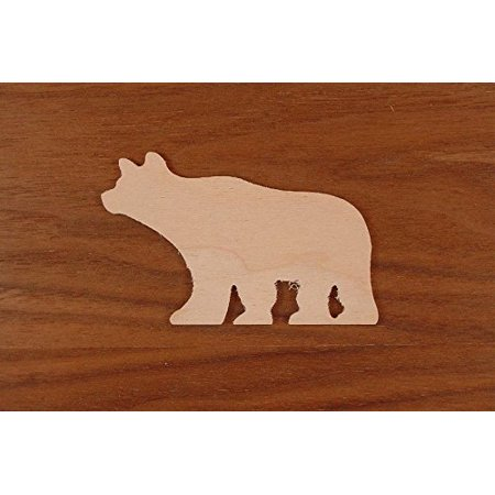 BEAR Wood 1/8 x 1 PKG 25 laser cut wooden BEAR by WOODNSHOP