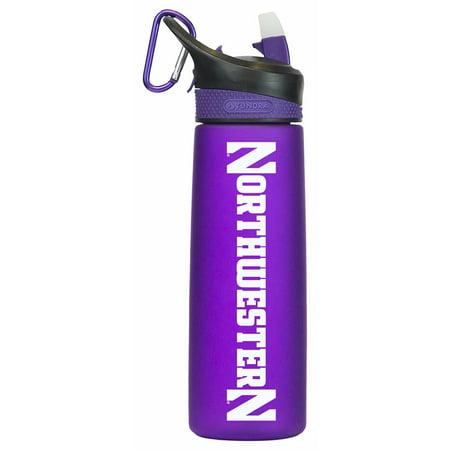 Northwestern Wildcats Bottle (Northwestern Wildcats NCAA 24Oz Frosted Water Bottle - Team Color)