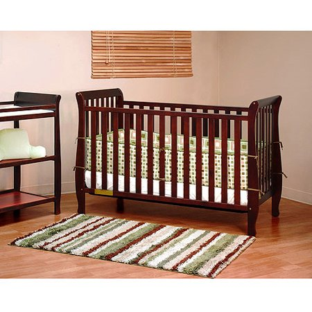 Athena Naomi 4 In 1 Convertible Crib With Toddler Rail  Choose Your Finish