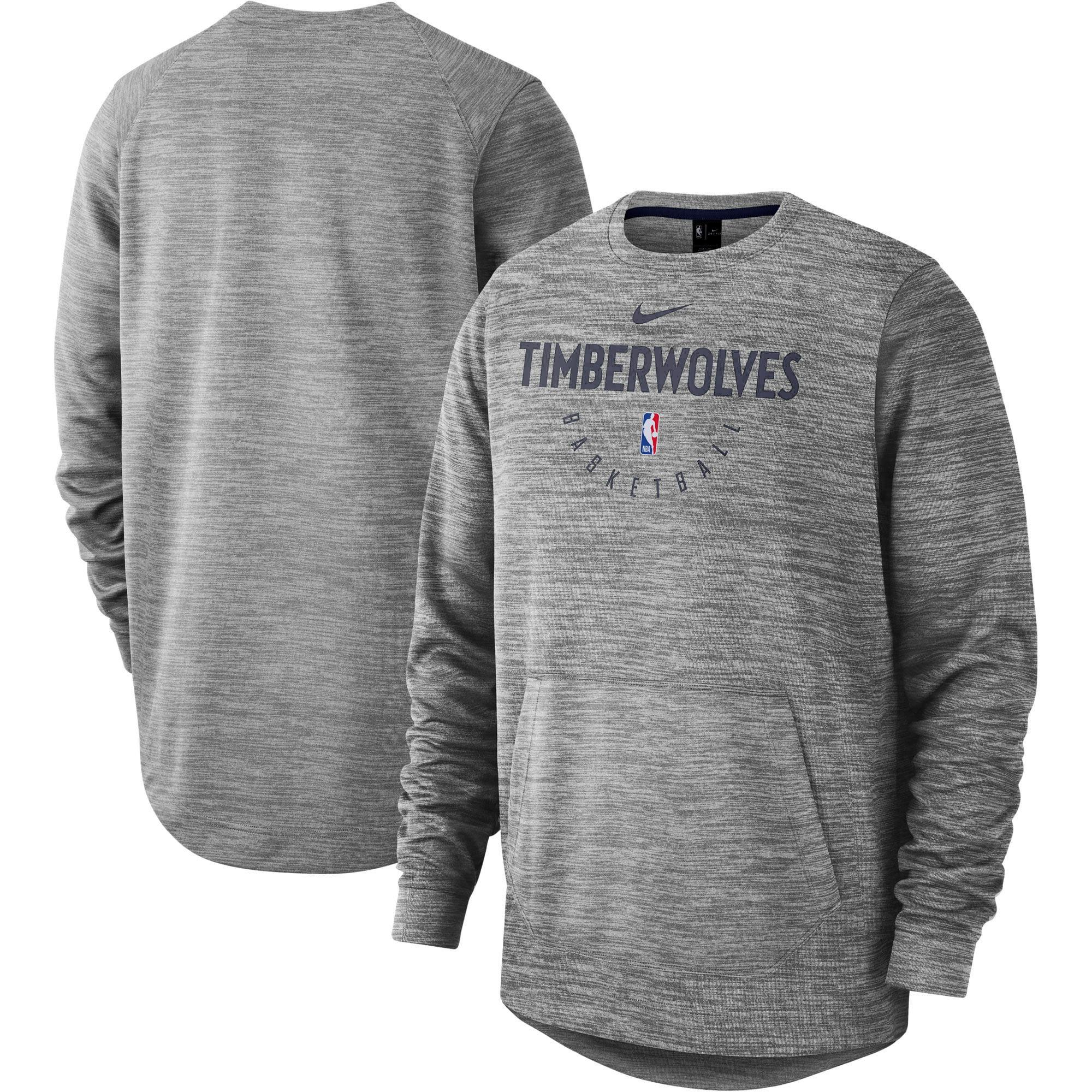 Minnesota Timberwolves Nike Spotlight Performance Pullover Sweatshirt - Heathered Gray