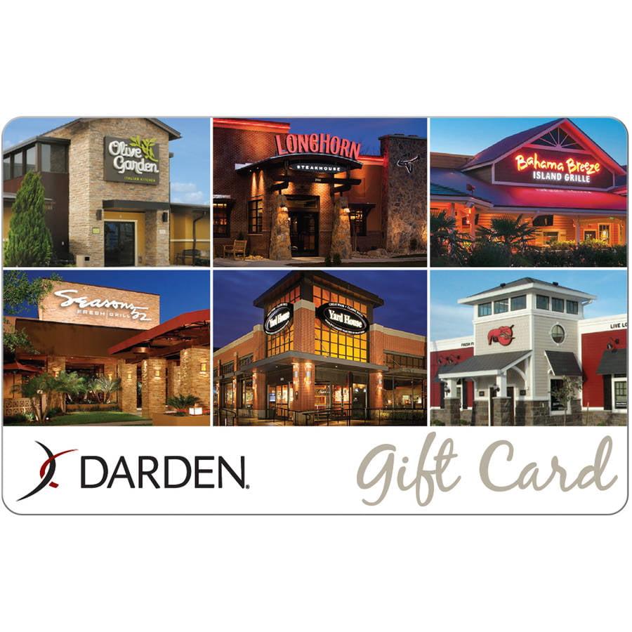 Darden Universal $25 Gift Card - Walmart.com