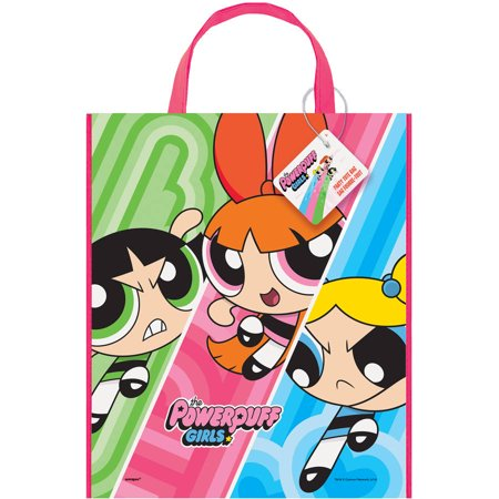 Large Plastic Powerpuff Girls Favor Bag, 13
