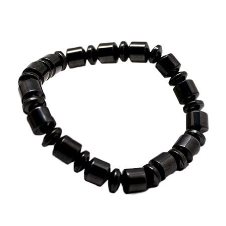 (Natural Brazilian Black Stone Health Energy Bracelet Bangle Jewelry Magnetic Bracelet J-291)