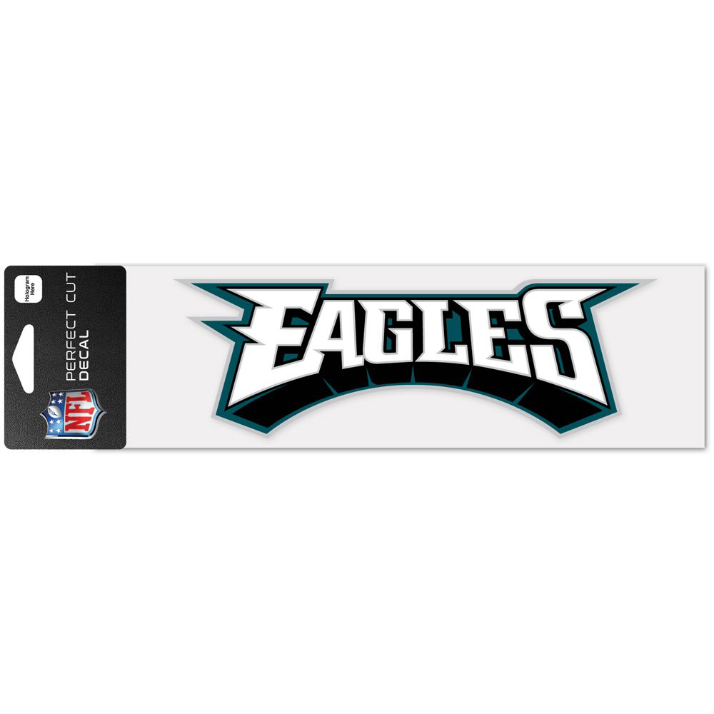 "Philadelphia Eagles WinCraft 3"" x 10"" Team Name Perfect Cut Decal - No Size"