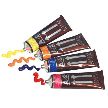 Chroma A>2 Lightfast Heavy Body Acrylic Paint Set, 4 oz Tube, Multiple Color, Set of -