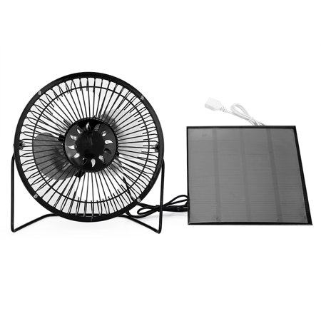 Dilwe Usb Solar Panel Ed Mini Portable Fan For Cooling Ventilation Home Travelling Fishing