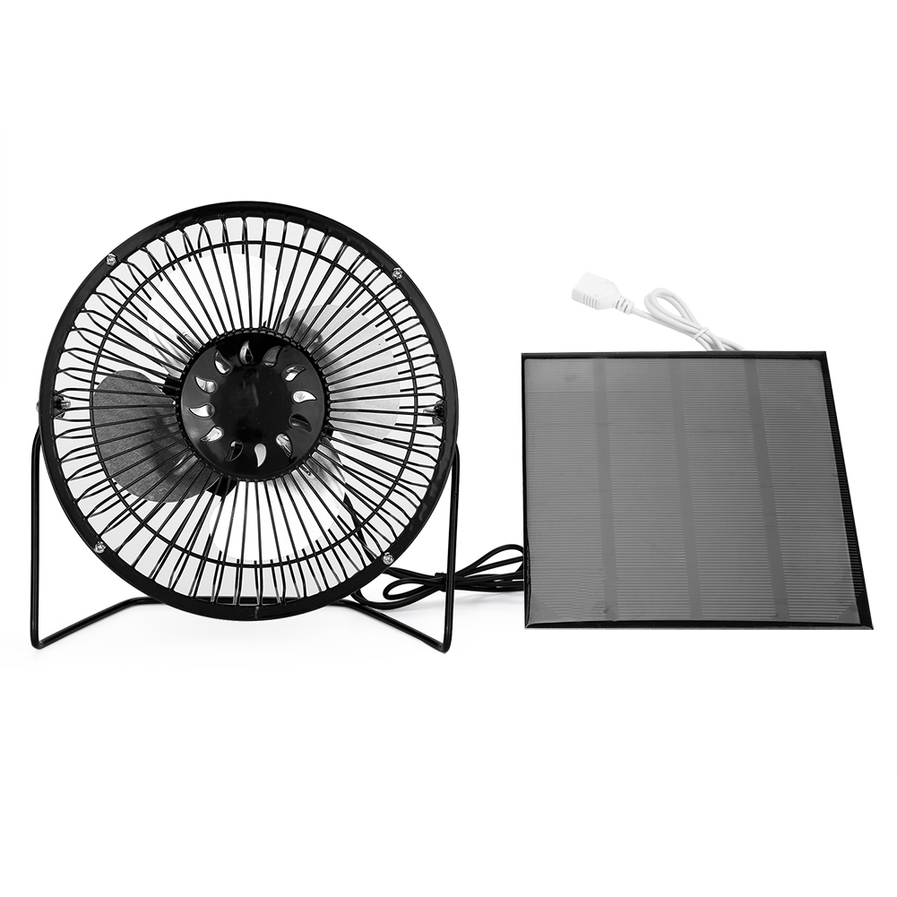 Dilwe Usb Solar Panel Powered Mini Portable Fan for Cooling Ventilation Home Travelling Fishing, Cooling Fan, Portable Fan