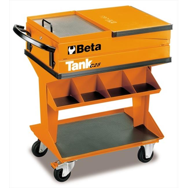 Beta Tools 025000001 C25-Tank Trolley With Shelf