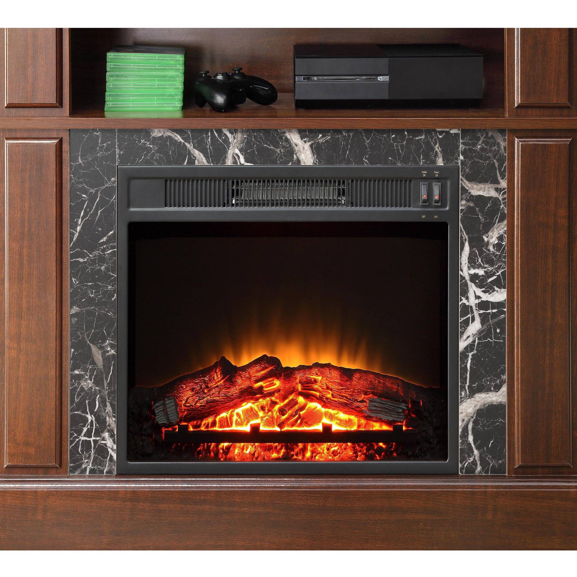 Whalen Combination Infrared Electric Fireplace Heater Fireplaces