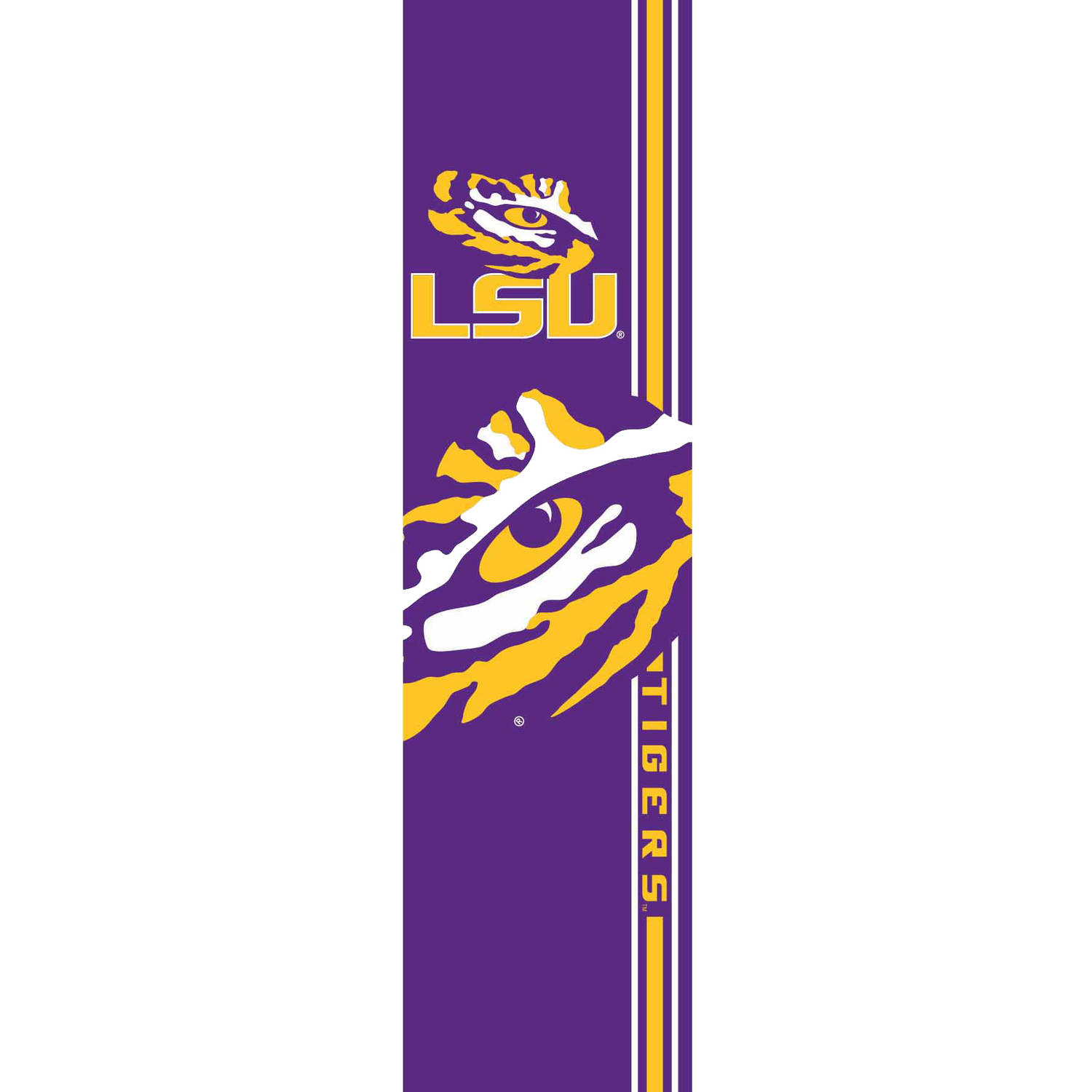 LSU Tigers Official NCAA 25 inch  x 7 inch  Door Banner by Team Promark