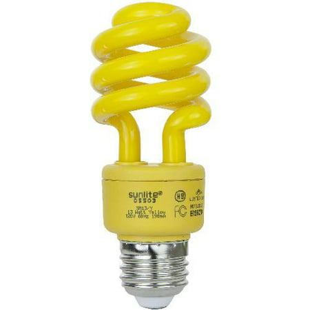 Sunlite Compact Fluorescent 13w Super Mini Twist Yellow