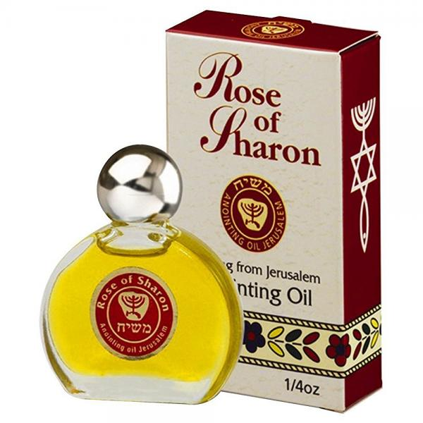 Rose of Sharon Jerusalem Anointing Oil 0.25 fl.oz. from the Land of the Bible by aJudaica