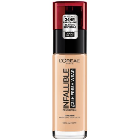 L'Oreal Paris Infallible 24HR Fresh Wear Foundation with SPF 25 - Warm Ivory - 1 fl oz