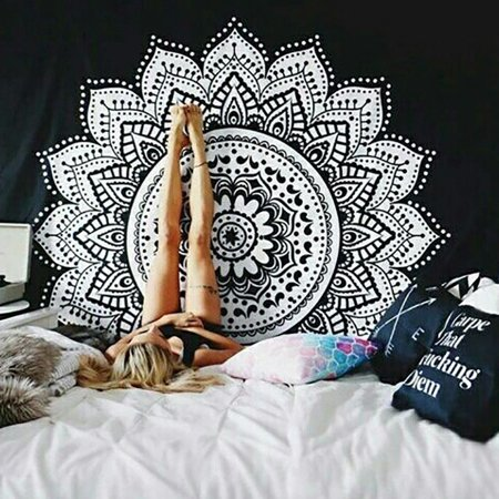 Tommyfit Boho Mandala Geometric Tapestry Wall Hanging Decor Yoga Mat - Sports Coverage Wall Hanging