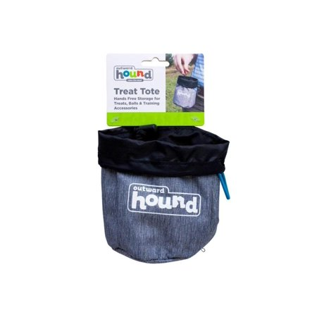 Hands-Free Treat Tote Treat Bag For Dog Treats & Toys, HANDS FREE STORAGE – Clips to belt or pocket for hands-free treat storage By Outward (Dogs Lined Tapestry Tote Bag)