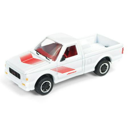 1991 GMC Syclone Pickup Truck Gloss White w/ Red Graphics Ltd Ed 2016 pcs 1/64 Diecast Model Car by Johnny Lightning