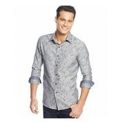 Tasso Elba Mens Paisley Jacquard Button Up Shirt