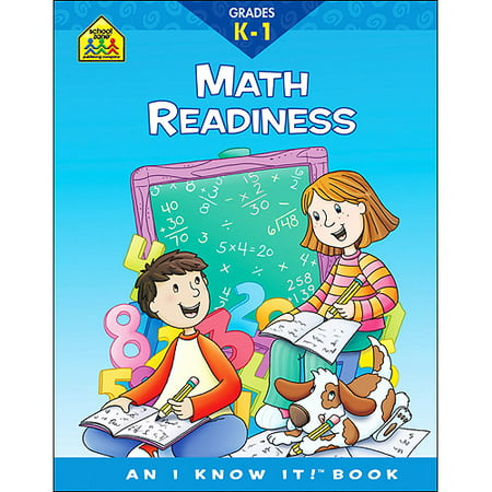 School Zone Curriculum Workbooks 32 Pages-Math Readiness Grades K-1