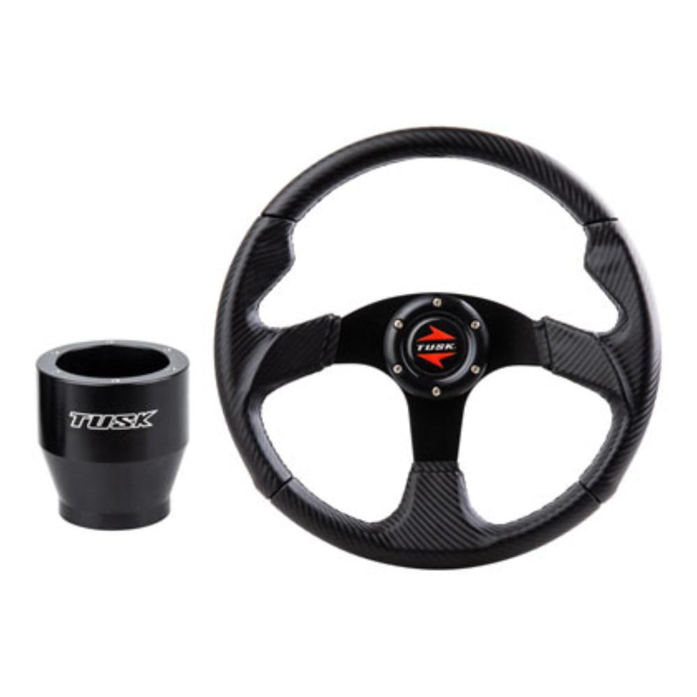 Steering Wheel and Hub Kit Black Suede for Polaris RANGER RZR XP 4 1000 2014-2020