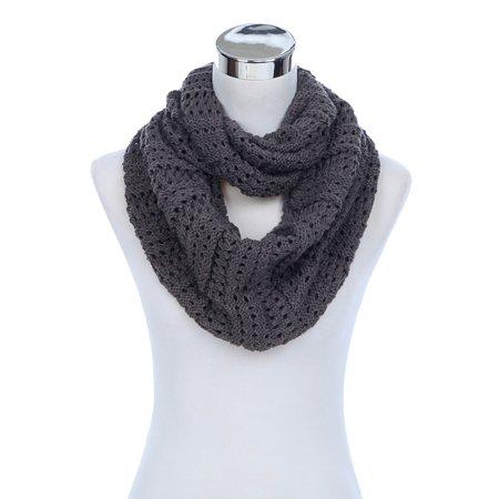 Spiral Scarf Knitting - Premium Winter Mesh Knit Infinity Loop Circle Scarf