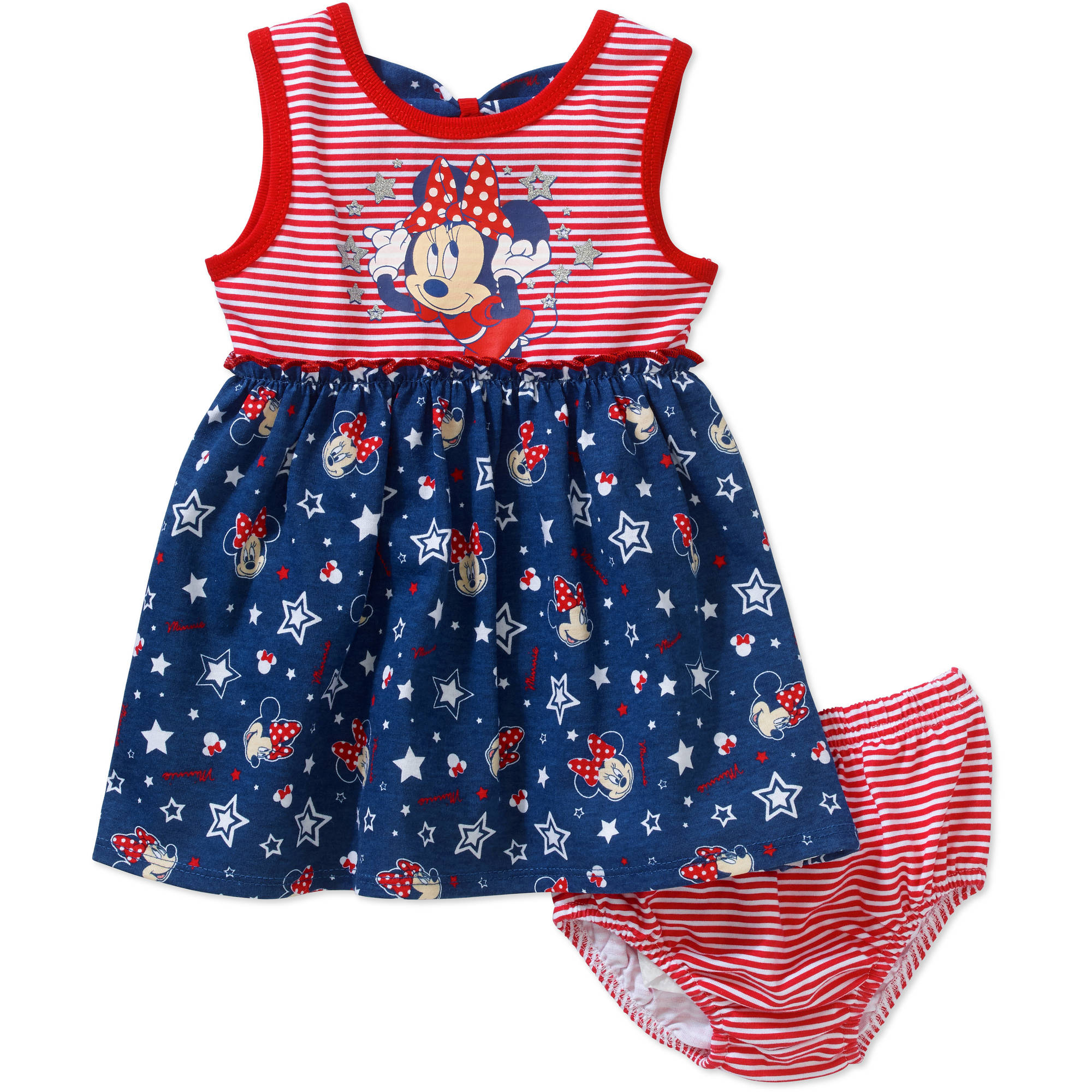 Baby toddler clothing dresses walmart minnie mouse newborn baby girls knit dress with bow back and panty set dhlflorist Gallery