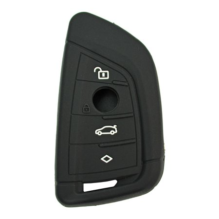 Silicone Rubber Protective Cover for BMW Remotes with FCC ID #NBGIDGNG1 Includes Free Key Tag Return Service (Black)