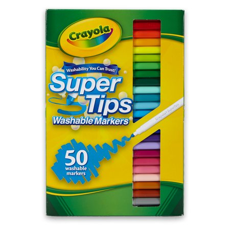 Crayola Super Tips Washable Markers Ages 3+ - 50 Count