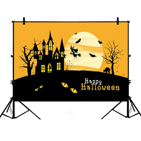 ZKGK 7x5ft Happy Halloween Polyester Photography Backdrop For Studio Prop Photo Background - Cute Happy Halloween Background