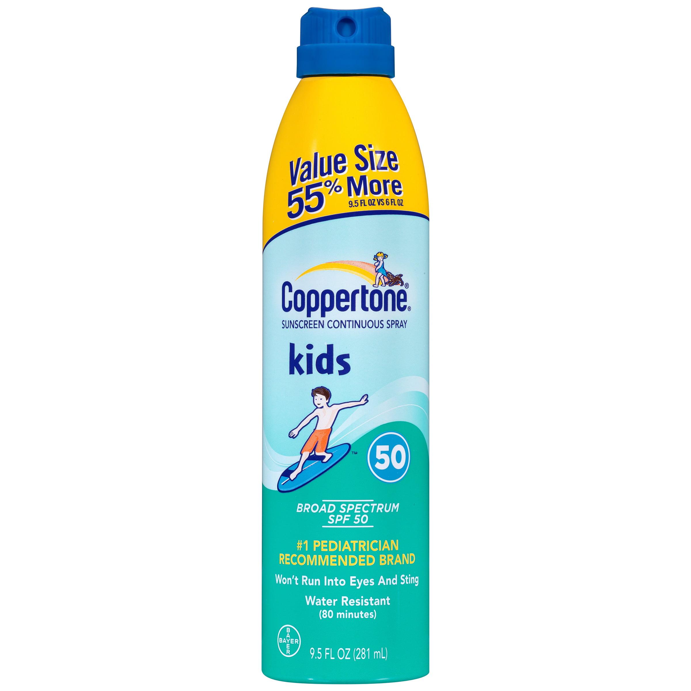 Coppertone Kids Continuous Spray Sunscreen, SPF 50, 9.5 oz