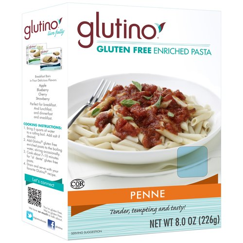 Glutino Penne Pasta 8 Oz (Pack of 12)