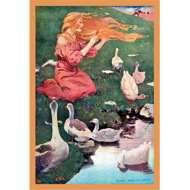 Buy Enlarge 0-587-05062-4P20x30 Goose Girl- Paper Size P20x30