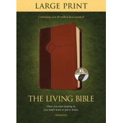 The Living Bible Large Print Edition, TuTone (LeatherLike, Brown/Tan, Indexed)