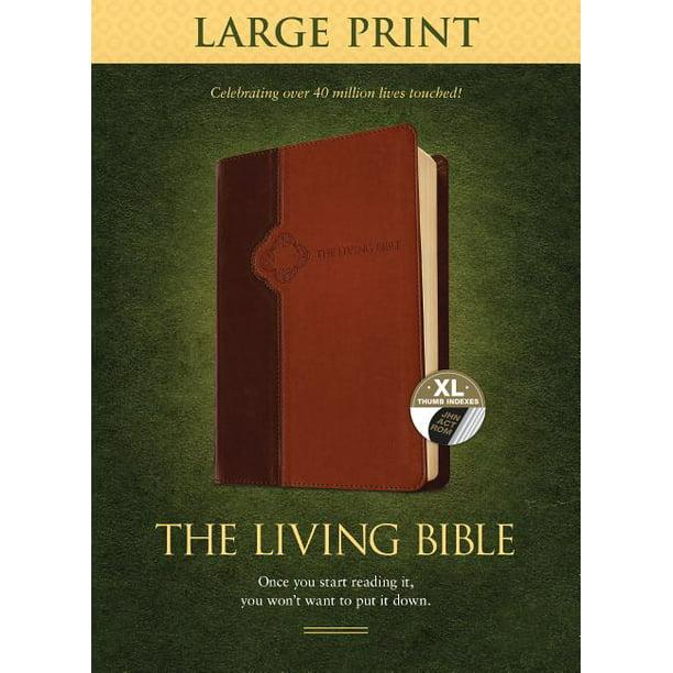The Living Bible Large Print Edition Tutone Hardcover Walmart Com Paraphrased Audio