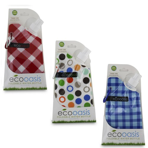 Smart Planet Ec35Oci Water Bottle Oasis Foldable 3 Pack