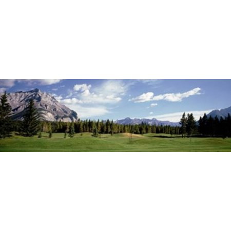 Golf Course Banff Alberta Canada Canvas Art - Panoramic Images (18 x - Banff Springs Golf Course