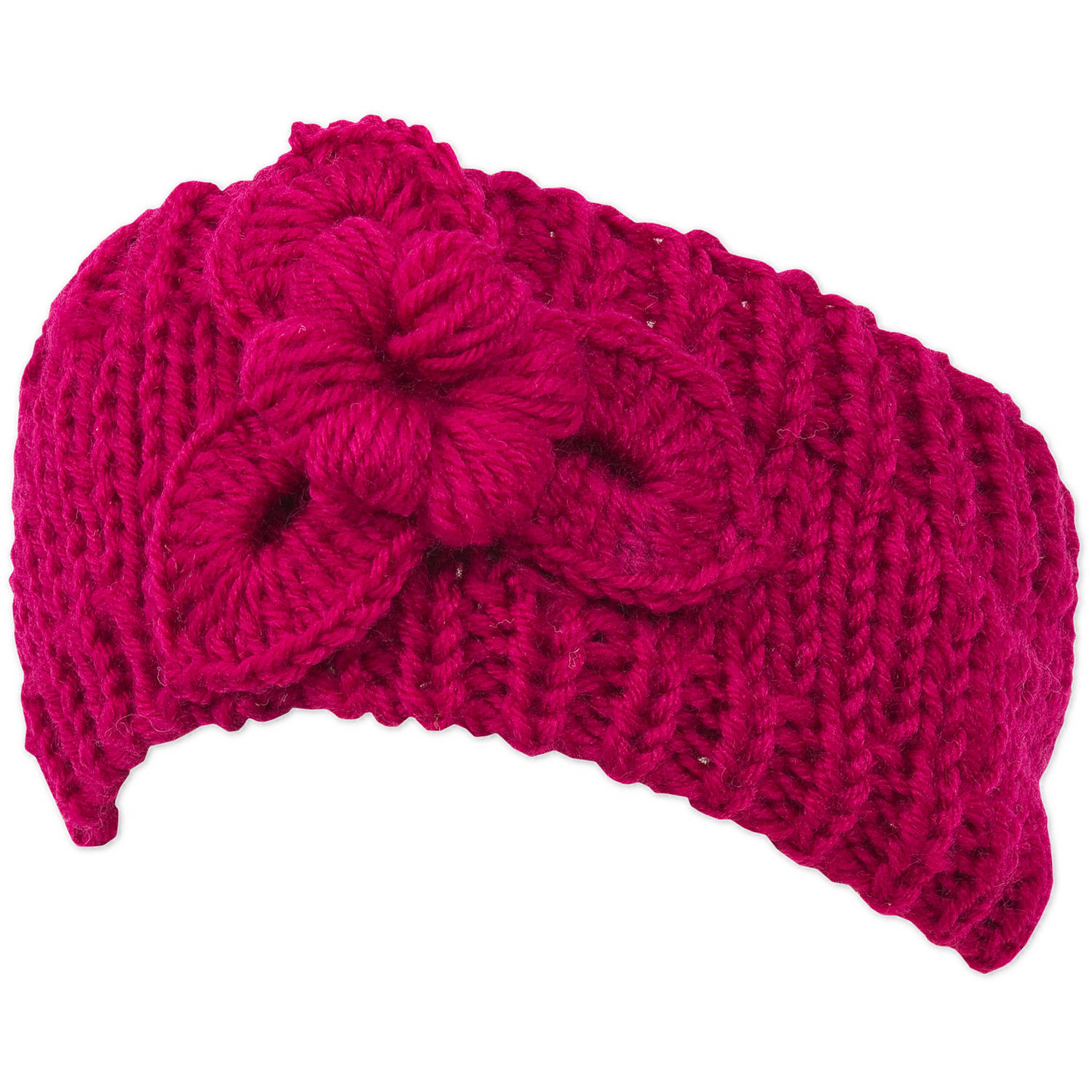 Magid Knit Headwrap, with Flower Applique
