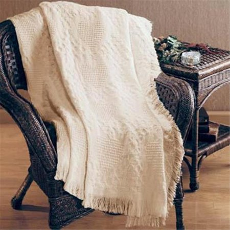 Basket Weave Hearts 2 Layer Throw Blanket Fashionable Jacquard Woven 46 X 60 -