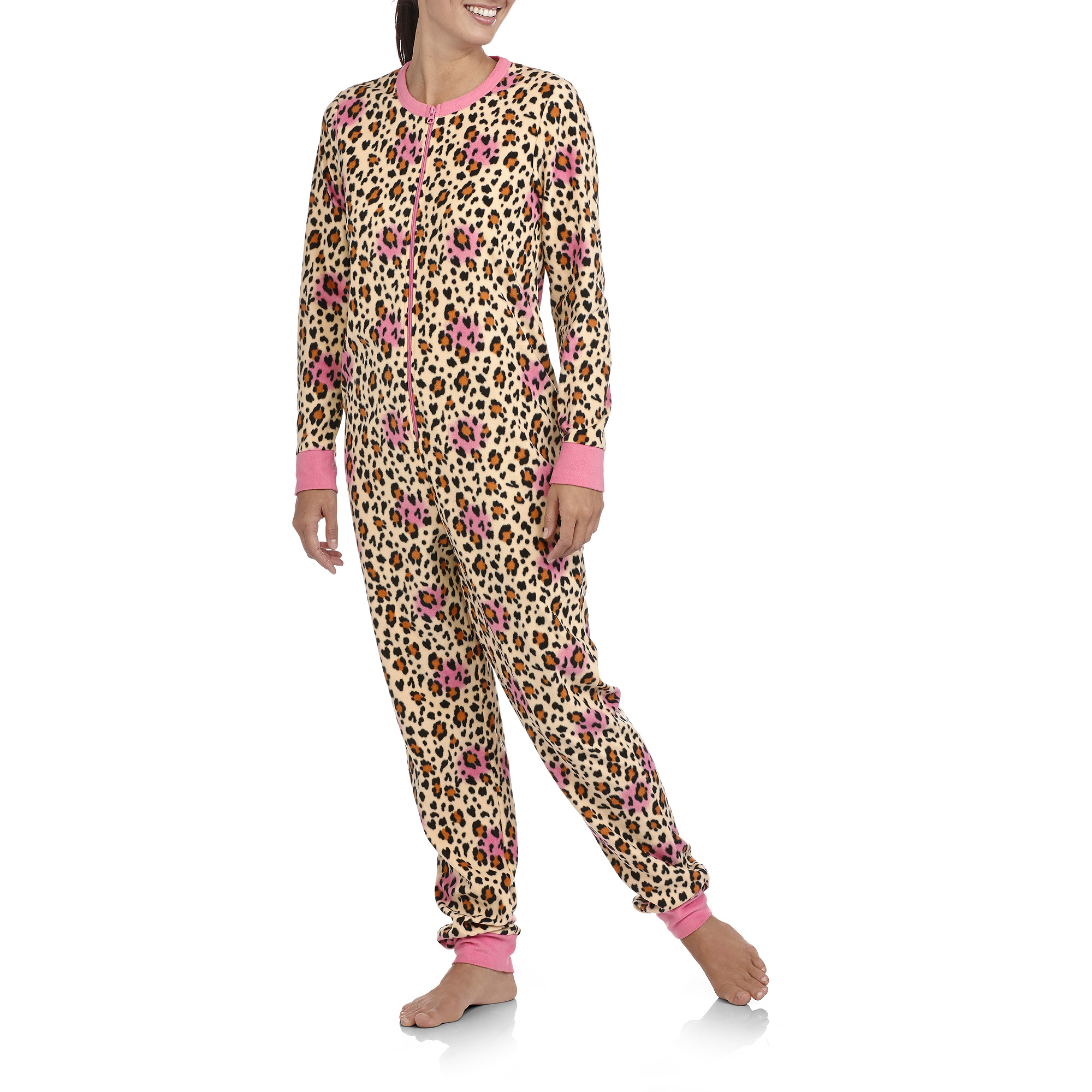 4ef5c64e2b09 Women s Micro Fleece One-Piece Pajamas - Walmart.com