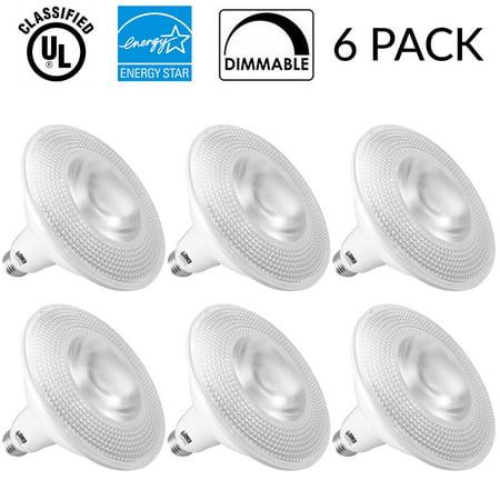 6 PACK - PAR38 LED 13 WATT (120W Equivalent), 5000K Daylight, DIMMABLE, Indoor/Outdoor Lighting, 1050 Lumens, Flood Light Bulb UL Listed (6 Pack