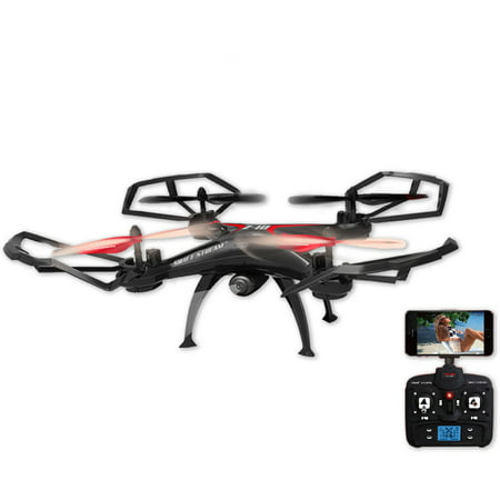 Swift Stream Z-10 Large 19in Hobby Grade Remote Control Quadcopter Drone with Wifi Camera, Black