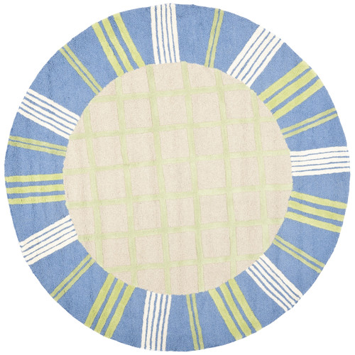 Safavieh Kids Taupe & Blue Area Rug