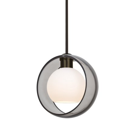 Besa Lighting-1TT-MANASM-BR-Mana - One Light Stem Pendant with Flat ()