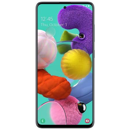 Straight Talk SAMSUNG A51, 128 GB Prism Crush Black - Prepaid Smartphone