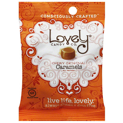 Lovely Candy Co. Chewy Original Caramels, 2 oz, (Pack of 6)